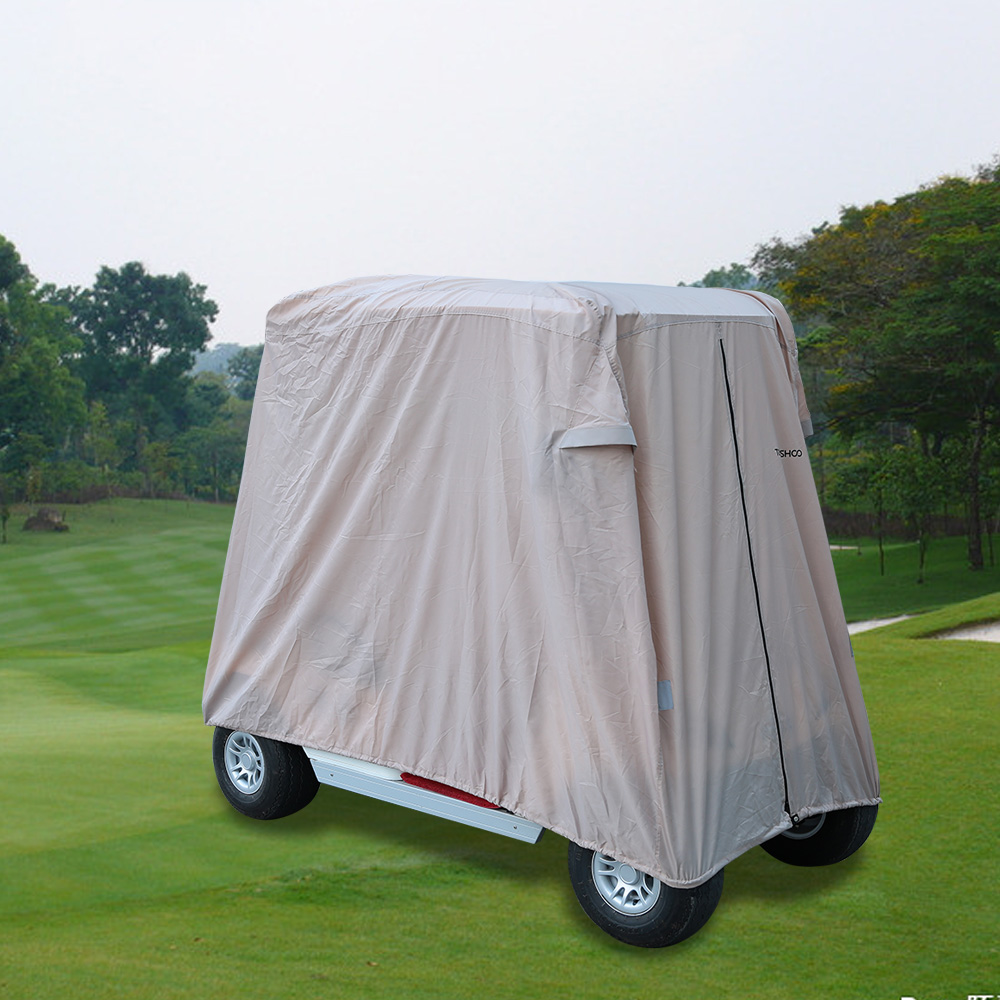 TOMSHOO Durable Waterproof Golf Cart Cover 2 4 Passenger Golf Cart Cover Car Roof Enclosure Rain