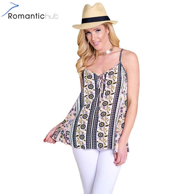 Romantichut 2018 Summer Floral Print Camis Women Tops Woman Sexy Female Satin Slip Top Ladies Chiffon Camisole Sleevelss T-shirt