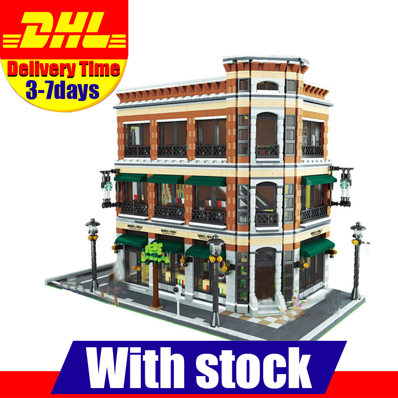 IN Stock LEPIN 15017 4616Pcs City Street  Starbucks Bookstore Cafe Model Building Kit Set Blocks Bricks Toy smart home eu touch switch wireless remote control wall touch switch 3 gang 1 way white crystal glass panel waterproof power