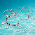 foot chain!!2014 brand new pure 925 silver sun flower anklet for women,women fashion jewelry & fashion anklet,