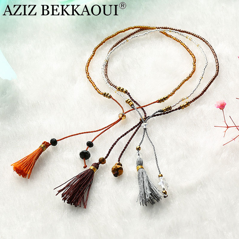 Aziz Bekkaoui Handgemachte Bunte Quaste Armband Multilayer-wrap Armband Diy Perlen Armreifen Freundschaft Armbänder Für Frauen Geschenk