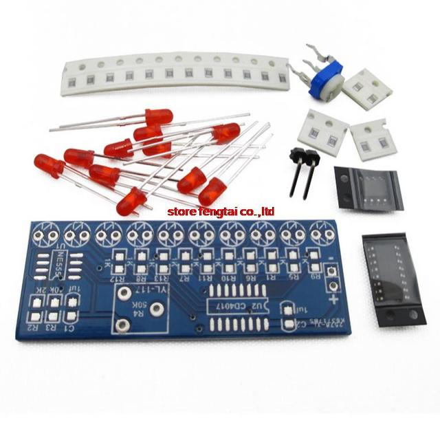 Smart Electronics Integrated NE555+CD4017 Light Water Flowing Light LED Module DIY Kit