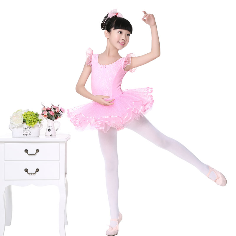 Niñas niños lindo encaje Rosa tutú de Ballet baile vestido sin ...
