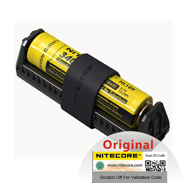 Originale NITECORE F1 Caricabatteria 5 v 1A Micro USB di Smart Accumulatori e caricabatterie di riserva Per IMR BATTERIA AGLI IONI di Li Ion 26650 18650 10440 14500 batterie