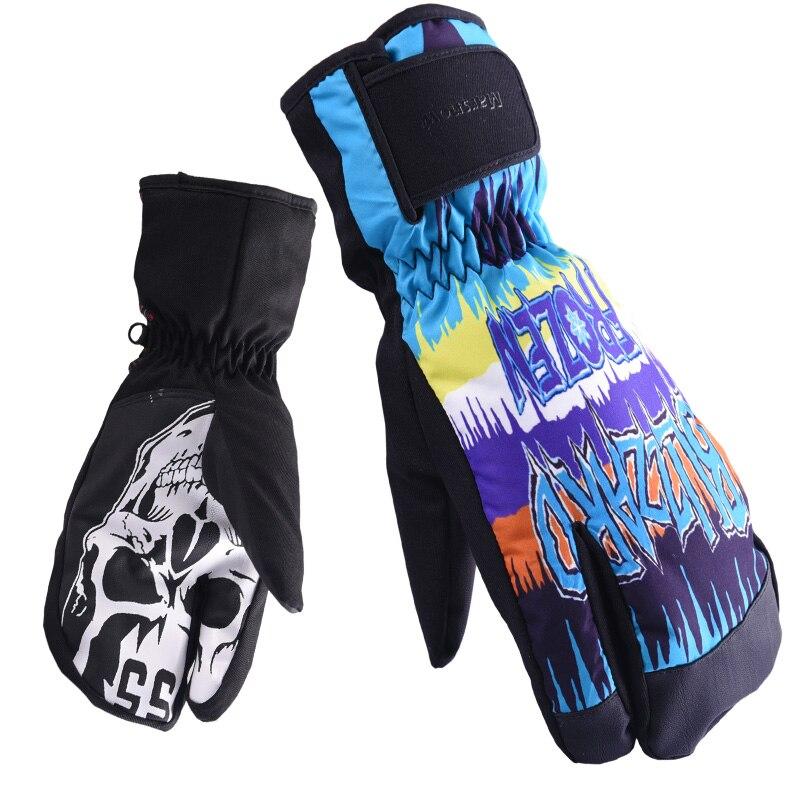 Новые Зимние перчатки для сноуборда для мужчин и женщин лыжные перчатки ветрозащитные водонепроницаемые нескользящие перчатки для катани...
