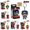 FUNKO POP Pocket Marvel Avengers Keychain Hulk Iron Man Spiderman Captain America Thor KeyRing Toy,Car key chain ring,harry pott
