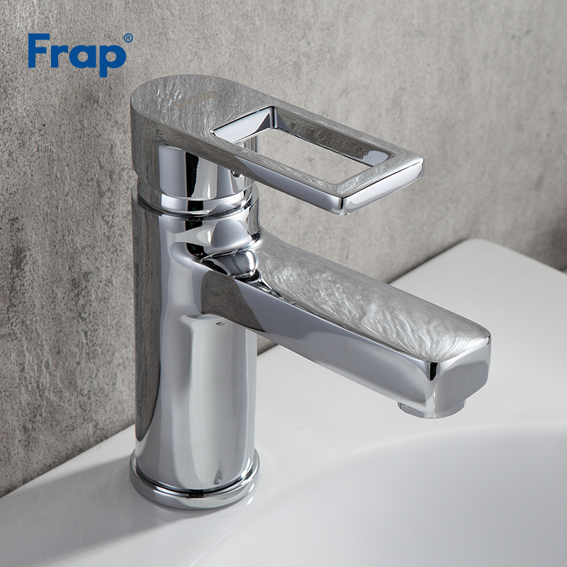Frap brass widespread bathroom basin faucet waterfall bath sink mixer tap washbasin faucet hot and cold