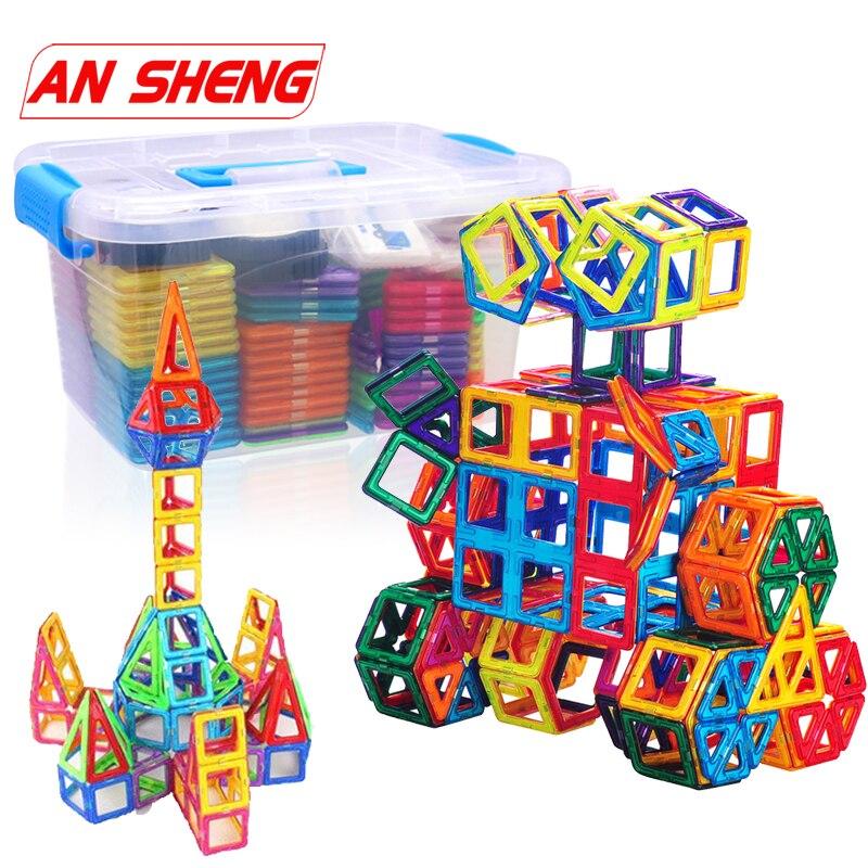 Nova 78-252pcs Mini Ímã Magnético Blocos Blocos de Construção de Brinquedos Magnéticos de Construção Designer para Crianças Jogos de Brinquedos Para Crianças presentes