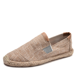 Image 4 - OUDINIAO Mens Shoes Casual Male Breathable Canvas Casual Shoes Men Chinese Fashion Soft Slip On Espadrilles For Men Loafers