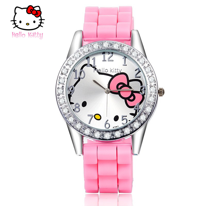 Watch For Girls 2018 Lovely Watches Silver Round Dial Crystal Quartz Wristwatch Hot Relogio Relogio Infantil