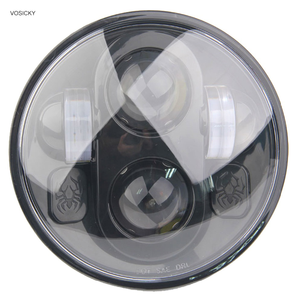 VOSICKY 5 3/4 LED Daymaker headlight Motorcycle BlackProjection  for harley Davidson Sportster Dyna with Spider on sale motos accessories 5 75 headlight motorcycle 5 3 4 led headlight for harley motorcycle projector daymaker
