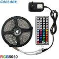 Goolook Светодиодные ленты света RGB светодиодный 5050 SMD 2835 гибкая лента RGB полоса 5 M 10 м 15 М лента диод DC 12 V + пульт дистанционного Управление + адап...