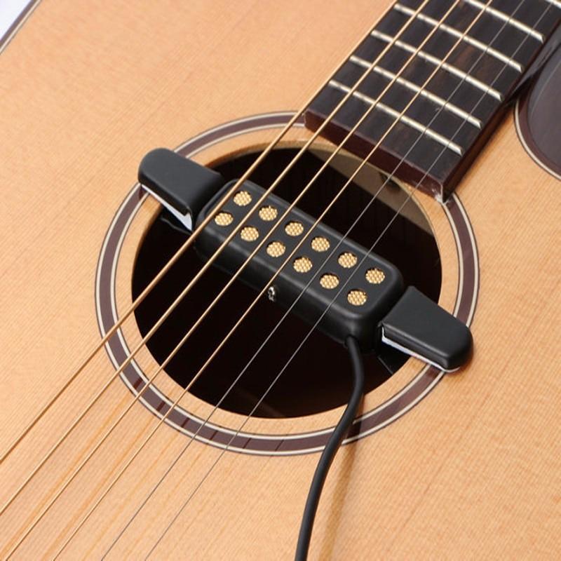 Professionnel classique guitare acoustique pick-up transducteur amplificateur guitare pick-up son trou Instruments de musique pick-up pour guitare
