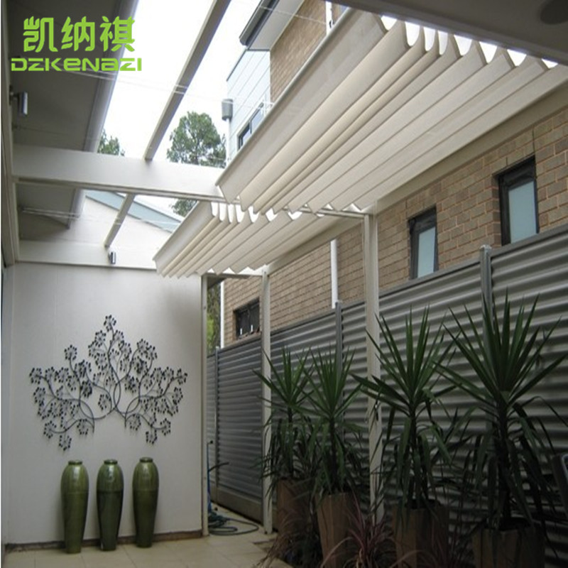 Customized Size Runner Sliding Roof Retractable Wave Sun