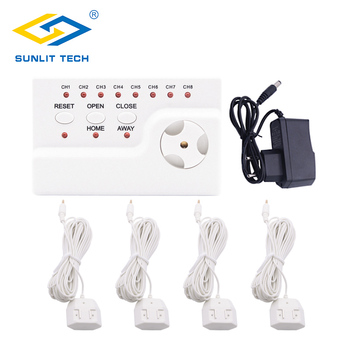 Water Leakage Warning Alarm System with 4pcs Sensitive Water Sensor and  1pc Water Leak Alert Control Unit for Home Security