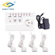 Water Lekkage Waarschuwing Alarm Systeem Met 4 Stuks Gevoelige Water Sensor En 1 Pc Water Lek Alert Control Unit Voor home Security