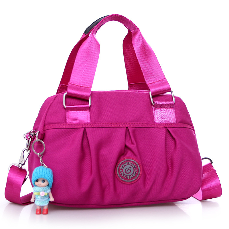 New canvas womens bag fashion shoulder large capacity light cloth ladies casual portable