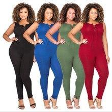 New popular Southeast Asian fashion personality middle-aged women fat MM high waist Slim sexy jumpsuit цена