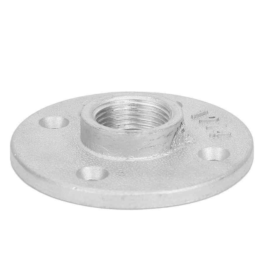 Bridas 10 piezas DN20 4 agujeros brida Base herramienta de Hardware 3/4 ''tornillo británico rosca de hierro fundido brida