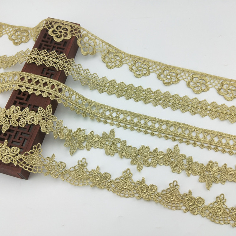 DIY 2Yards Leaves Chiffon Lace Sewing clothing//curtain//Jewelry Accessories