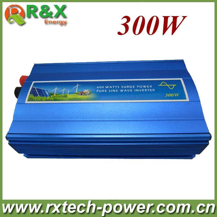 300 W hors réseau onduleur, sinusoïdale pure onduleur à onde pour le solaire et vent, 12 V/24 V DC à 100/110/120/220/230/240 V AC.