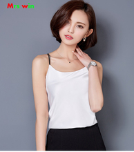 Women Tank Top ladies sexy Silk summer Camisoles Female Thin Slim Halter Female Basic body strap cross satin blouse camis