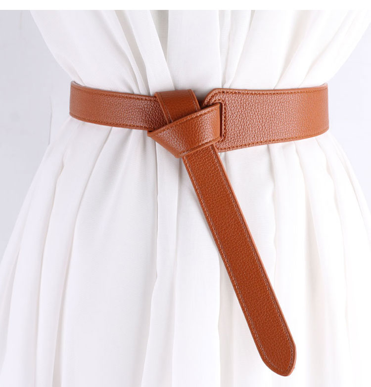 Female Decoration Accessaries Belt Female Knotted Simple Waistband Long Wide Belts Fashion Women PU Leather Strap Dress Waist