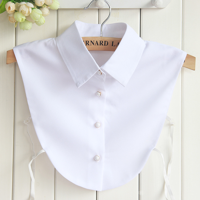 New Style Women White Shirt Fake Collar Collection Of The Women Pure Color Collar Chiffon Women Blouse Wholesale Drop Shipping