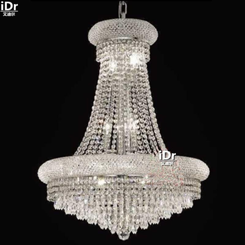 1 Chandeliers Simple chrome metal lamp crystal