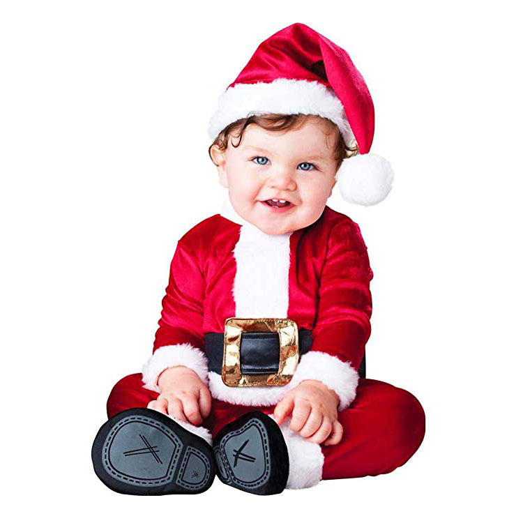 2018 Baby Rompers Newborn Clothes Animal Snowman Santa Claus Carnival Christmas Elf Halloween Costume for Kids adult christmas santa claus costumes flocking rabbit fur fancy cosplay santa claus clothes good quality costume christmas suit