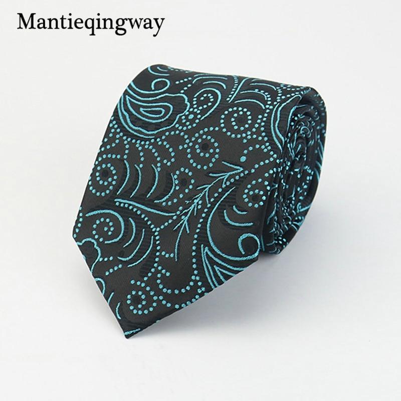 Mantieqingway Brand Ties Hombres Poliéster Corbatas Floral Gravata - Accesorios para la ropa - foto 5