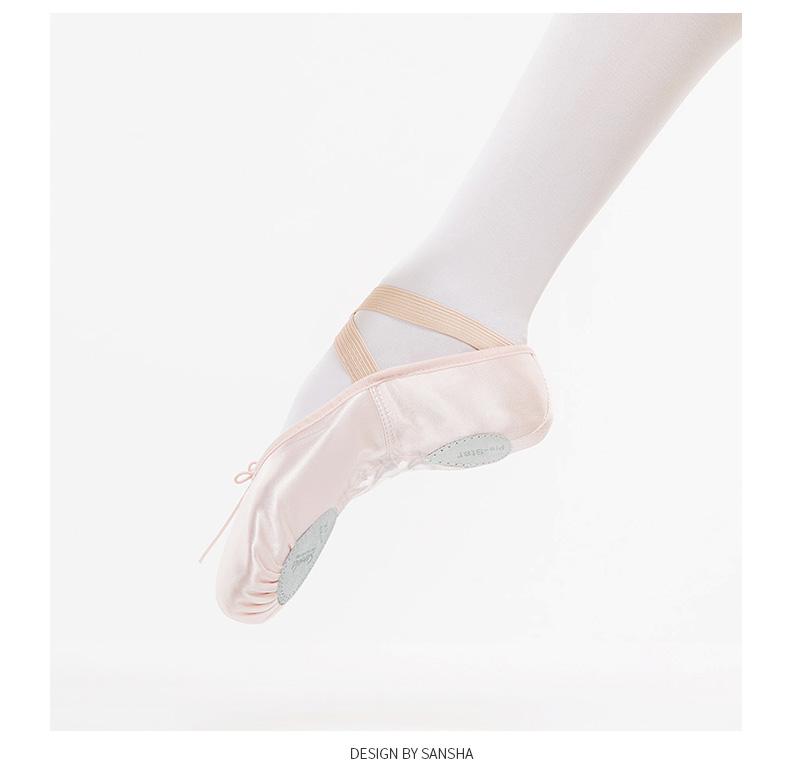 Sansha 2016 Brand New Superior Cow Leather Soft Ballet Dancing Shoes Light  Grey Ballet Slippers NO.88LCOUSD 16.90 pair 8cc588e7b73d