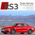 S3 Diseño RS3 Coche Más Bajo Recortar Spoiler Faldones Laterales Ensanchados Miembros tiras de panel s line sline para audi a3 sportback limusina 2015