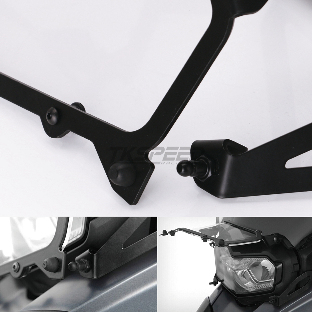 Image 4 - Black Motorcycle Headlight Protection Net Headlight Protection Quick Release Headlight Cover For BMW F850GS F750GS-in Covers & Ornamental Mouldings from Automobiles & Motorcycles