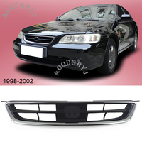 ABS Chromed Front bumper grill grille 1PCS For Honda Accord 2.0L 2.3L 1998 2002 Car accessories