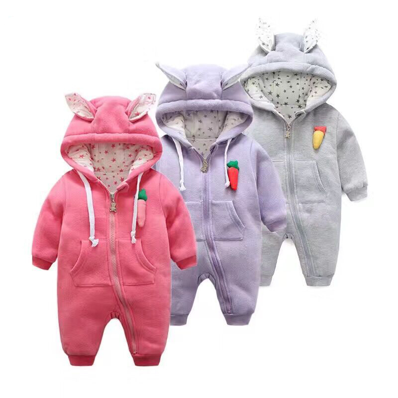 Cute Rabbit Ear Hooded Baby Rompers For Babies Boys Girls Clothes Newborn Clothing Brands Jumpsuit Infant Costume Baby Outfit pinup rockabilly special retro atmosphere beautiful generous banquet hoop rabbit ear