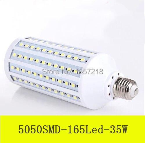 1pcs 2014 NEW High Bright 35W Wall LED lamps E27 E14 B22 165LEDs 220V 110 High Quality 5050 SMD Corn LED Bulb Ceiling light high quality 5050 leds ac dc12v gy6 35 led lamps g6 35 led crystal lamp 12v gy6 led bulbs lights free shipping 8pcs lot