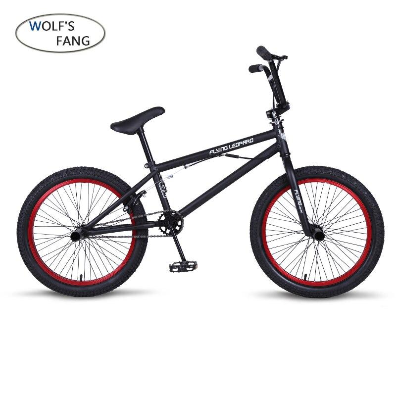 BMX 20 Pouces BMX vélo en acier cadre Performance Vélo violet/rouge pneu vélo pour le spectacle Stunt Acrobatique Vélo arrière fantaisie rue vélo