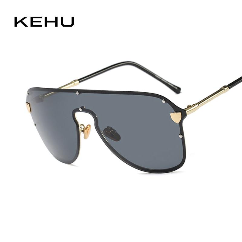 KEHU New Very Big Women Sunglasses Pilot Glasses Unique Glasses Women Polarized Light Brand Designer Sen Sunglass UV400 K9395