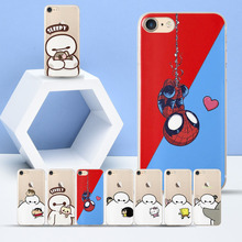 Funny Doraemo Covers Case for iPhone XS Max Cases SE 6 6S 7 8 X Baymax Fundas Plus XR