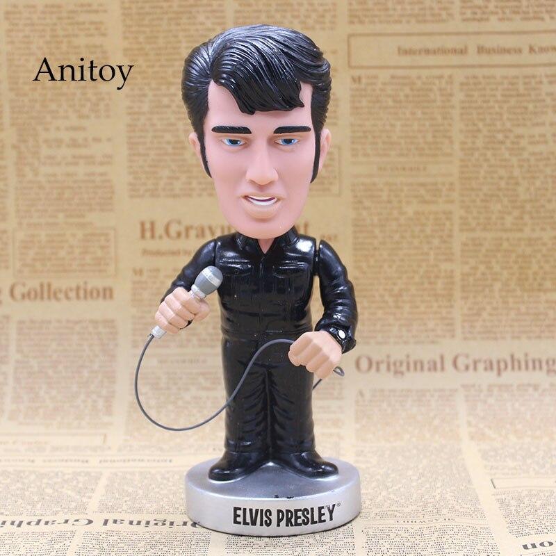 где купить Elvis Presley Wacky Wobbler Bobble Head PVC Action Figure Collection Toy Doll 16cm with Retail Box по лучшей цене