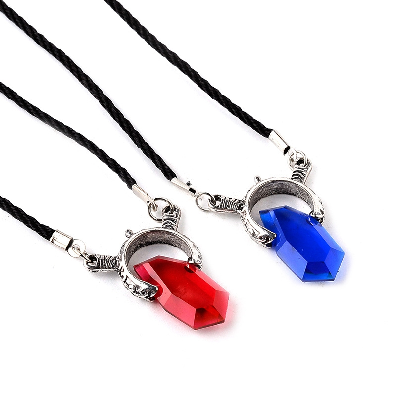 Us 14 27 20 Off Trendy Anime Game Cosplay Dmc Devil May Cry 5 Necklaces Wholesale Crystal Unisex Dante Pendants Rope Chain Necklaces Collar Gift In