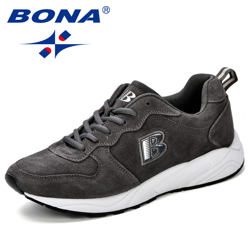 BONA New Classics Style Men Casual Shoes Krasovki Mocassin Basket Homme Comfortable Trendy Light Trainers Chaussures