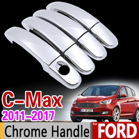 For Ford C MAX 2011 2017 MK2 Chrome Handle Cover Trim Set For 4Dr C MAX