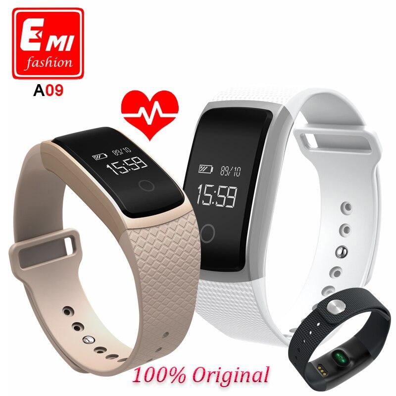 imágenes para La nueva pantalla táctil de a09 smart watch pulsera banda de presión arterial heart rate monitor podómetro fitness pulsera inteligente pk miband2