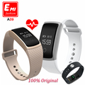 Mais novo touch screen a09 smart watch pulseira banda pressão arterial heart rate monitor de fitness pedômetro pulseira inteligente pk miband2