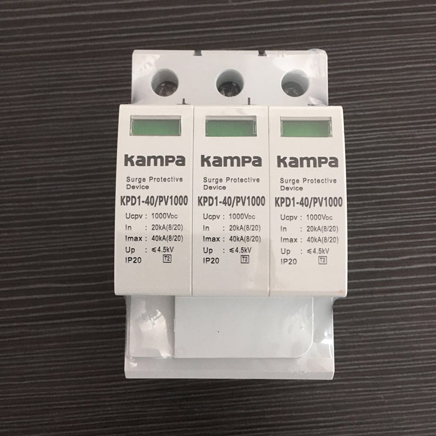 Free Shipping DC Surge Protector 1000VDC 3P 20ka-40ka Surge Lightning Arrestor Solar Surge Proctor Device For Solar System bnc 2 in 1 monitor system lightning surge protector for security camera white black