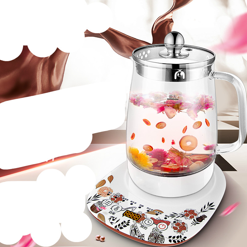 Electric kettle health - raising pot fully automatic thickened glass multi-function boiling tea health pot mini automatic thickening glass multi purpose tea kettle flower tea pot boiling pot electric kettle