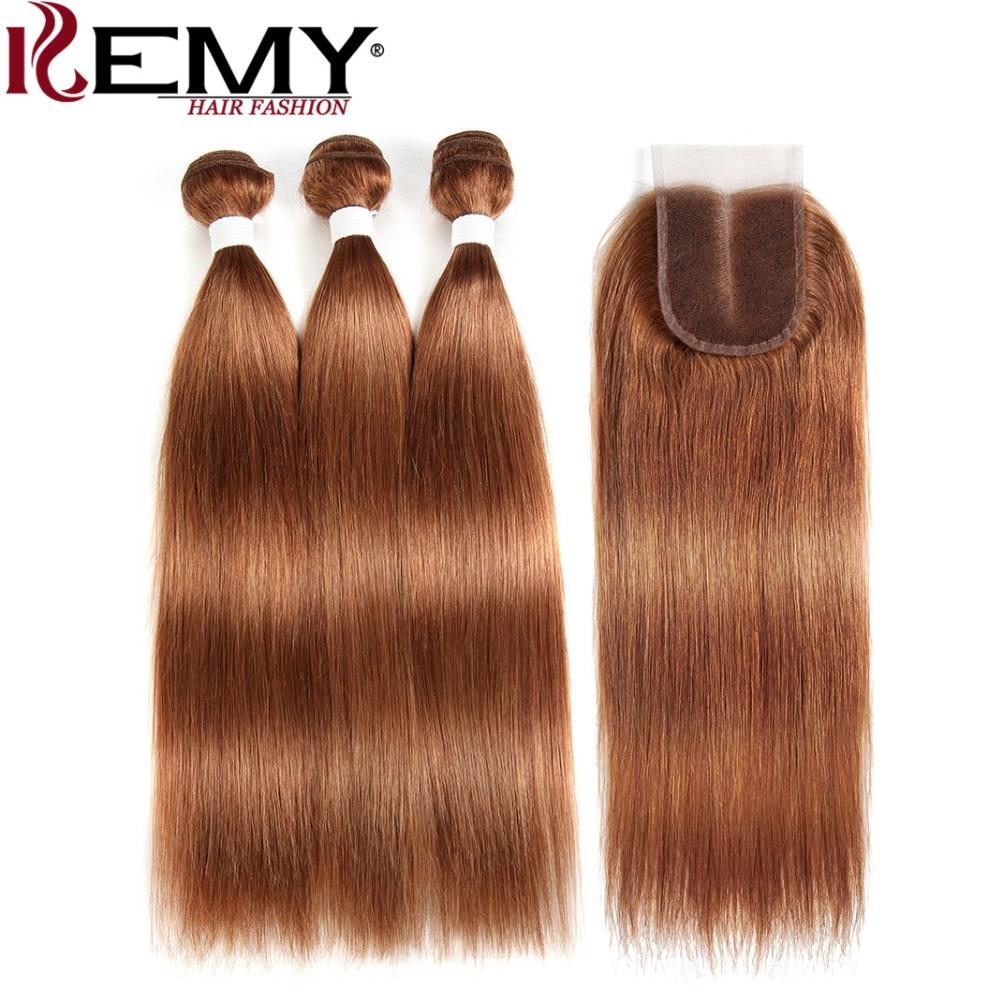 fechamento cabelo kemy 3 pçs cabelo marrom