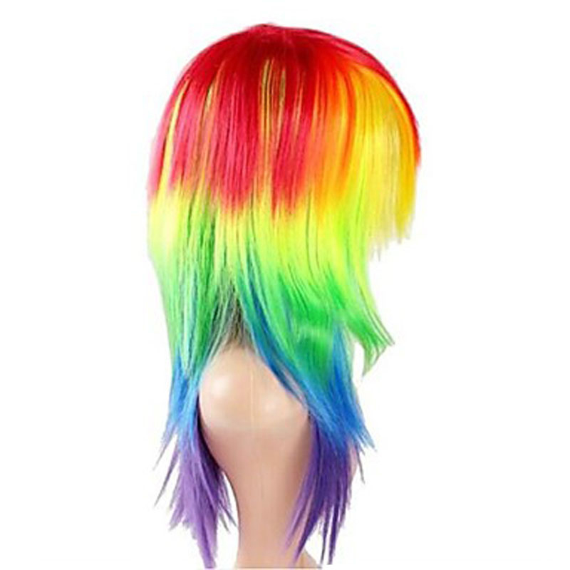 Image 3 - HAIRJOY  Synthetic Hair Womens Cosplay My Little Pony Rainbow Dash Multi Color Heat Resistant Party Wig Free Shippingwigs freewigs free shippingwig wig -